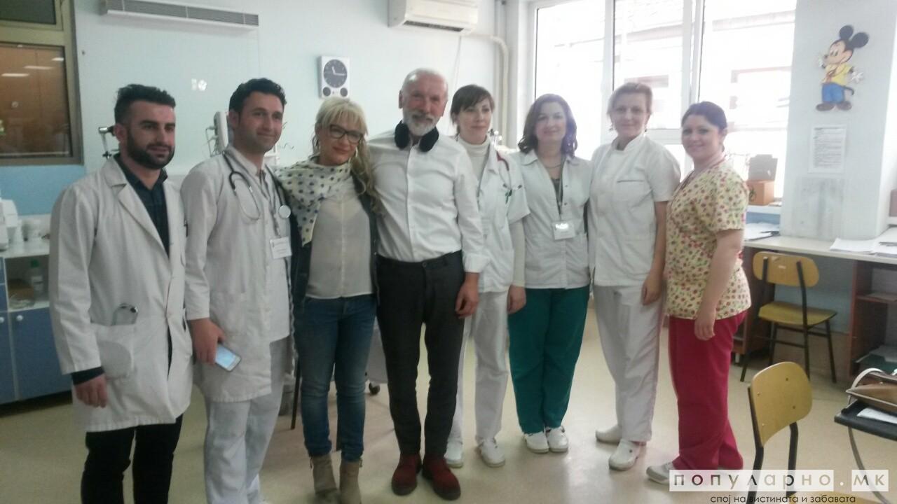 ФОТОГАЛЕРИЈА: Дино Мерлин ја посети Детската Клиника во Скопје