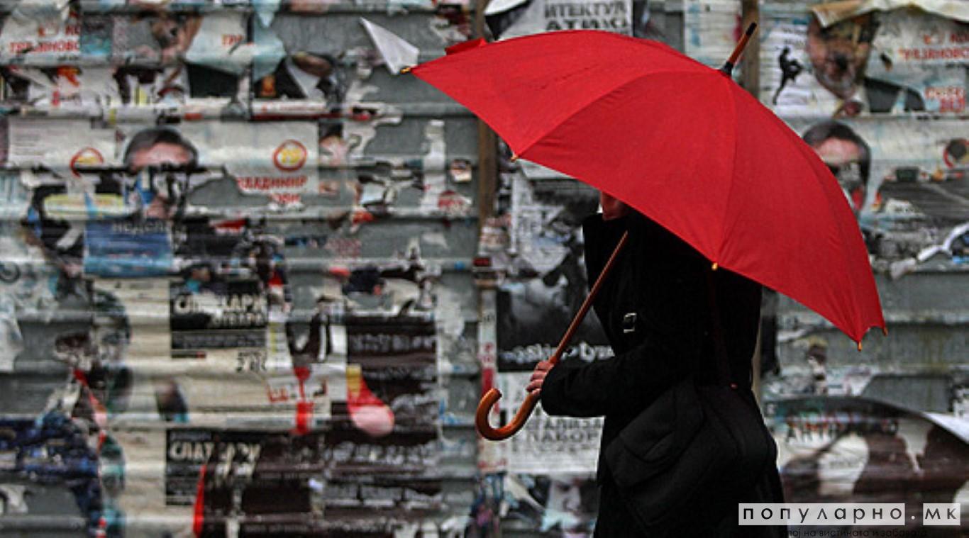 Облачно со повремени врнежи од дожд, викендов голем пад на температурите и снег
