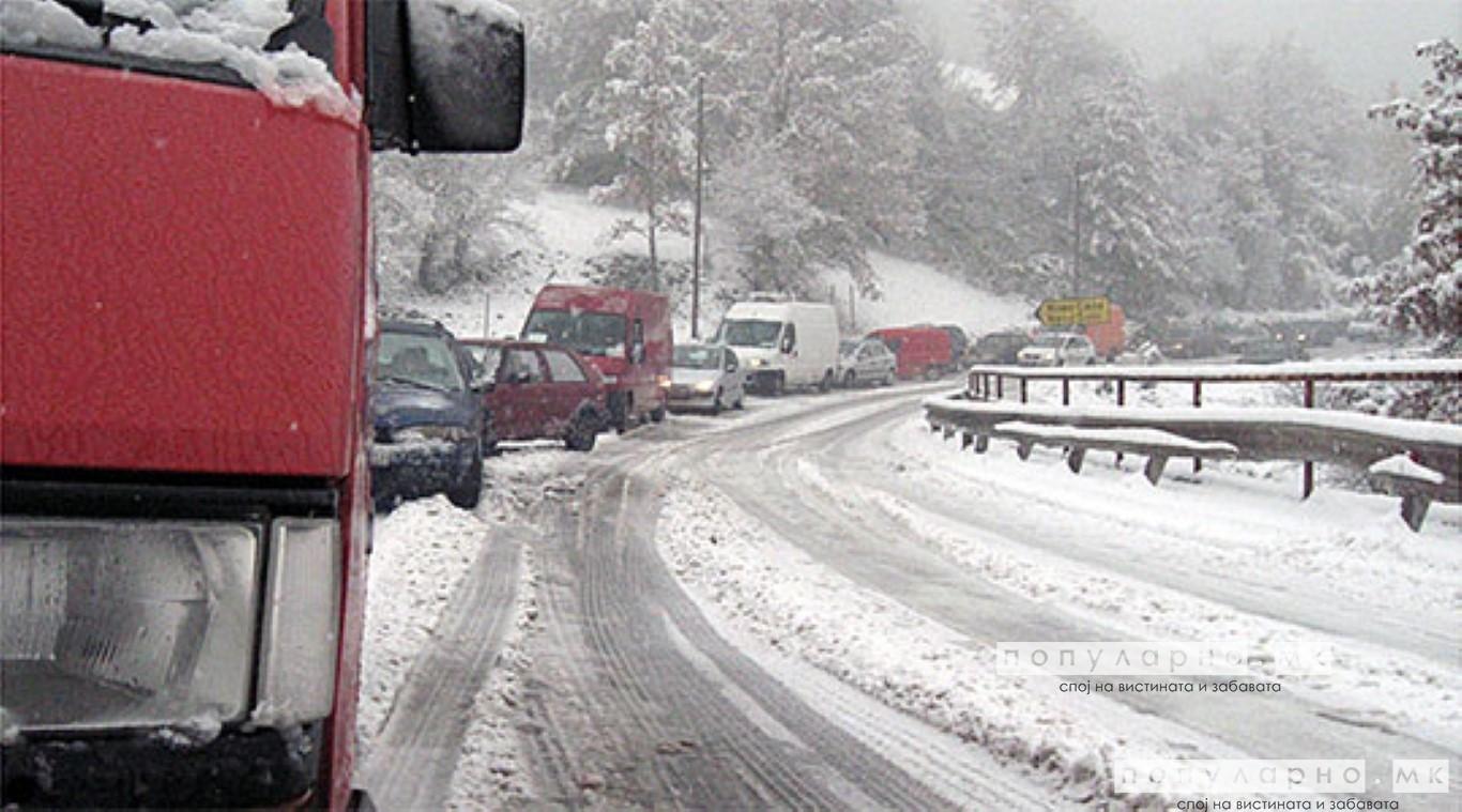 Во прекин патот Струга - Ќафасан, забрана за камиони на неколку правци