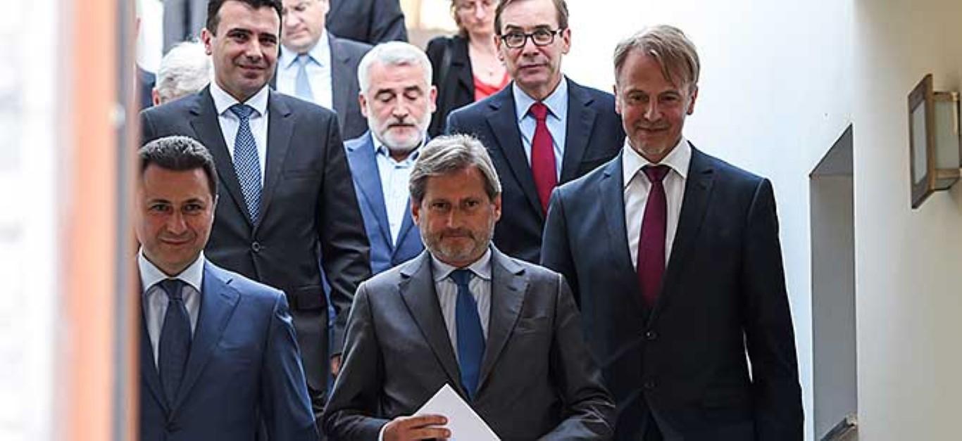 Македонските политички лидери на средба со Хан во Брисел