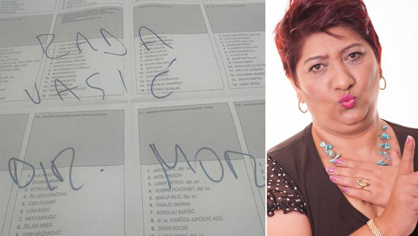 """На гласачките ливчиња во Хрватска се најде и Рада од """"Големиот брат"""""""