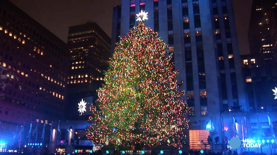 ВИДЕО: Спектакуларно палење на новогодишните светилки во Њујорк