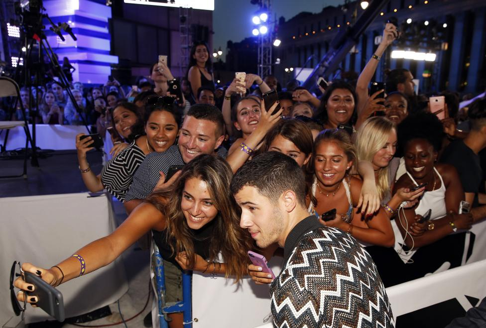 Nick Jonas arrives at the 2016 MTV Video Music Awards in New York