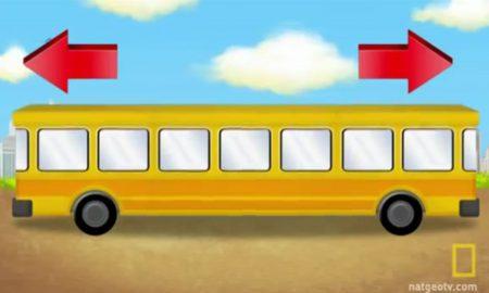 ЗАГАТКА КОЈА ГО ОСВОИ СВЕТОТ: На која страна се движи автобусот?