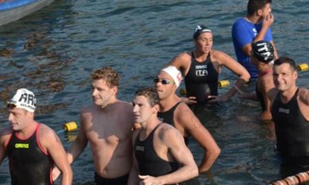 Стуџински и Позобон победници на Охридскиот пливачки маратон