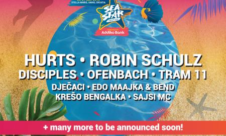 Со првиот бран изведувачи на Sea Star стигнуваат Hurts, Robin Schulz, хитмејкери и силна рап екипа!