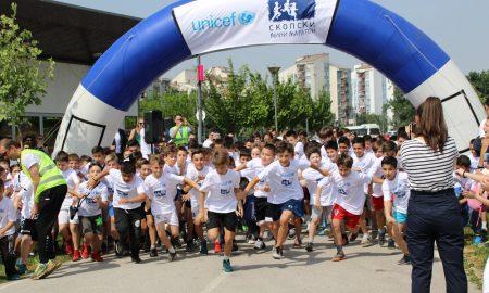 Детските насмевки - најава за утрешниот скопски маратон (ФОТО)