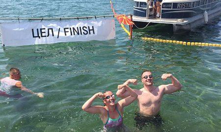 Симеон Кралевски и Елена Спасовска победници на традиционалиот Илинденски пливачки маратон